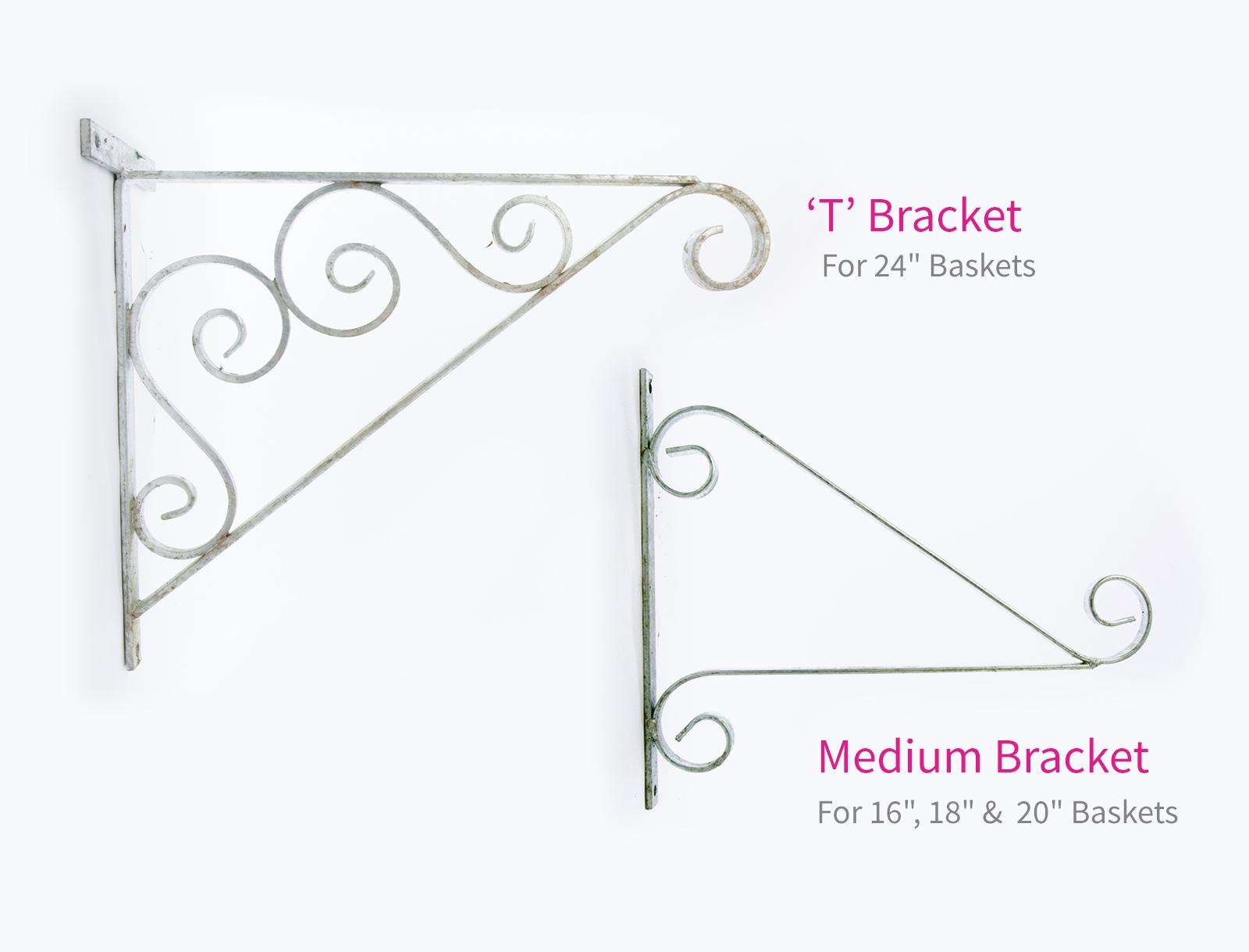 Flower Basket Hanging Brackets : Hanging basket brackets blooming baskets